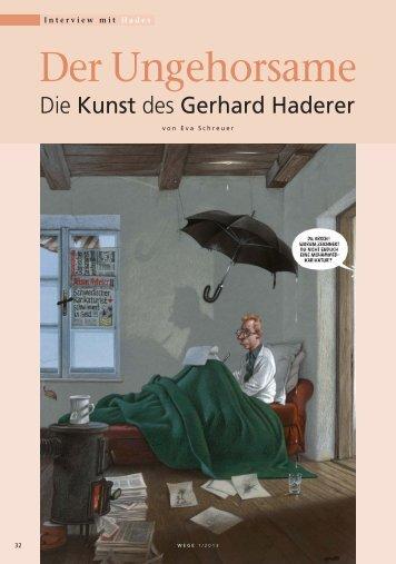 """Haderer Interview """"Der Ungehorsame"""" - Wege"""