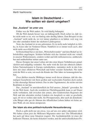 Islam in Deutschland - Wie sollten wir damit umgehen? (3/2005)