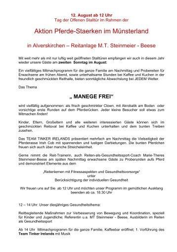 Aktion Pferde-Staerken im Münsterland - Marie-Theres Steinmeier