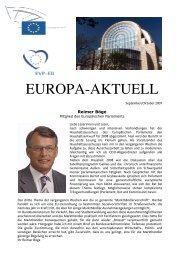 Europa-Aktuell Oktober 2007 - Reimer Böge, MdEP