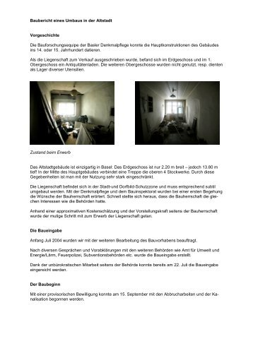 Baubericht eines Umbaus in der Altstadt - Schmid-Schwarz AG