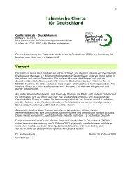 Islamische Charta für Deutschland