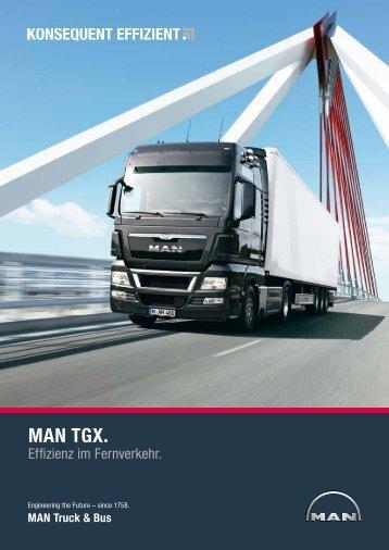 MAN TGX. - MAN Truck & Bus Deutschland