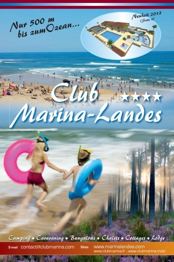 Brochure PDF - CAMPING CLUB MARINA