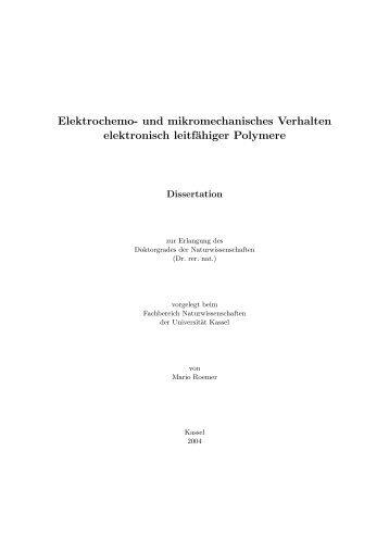 Elektrochemo - KOBRA - Universität Kassel