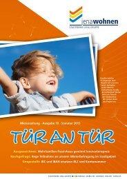 Mieterzeitung · Ausgabe 70 · Sommer 2013 ... - jenawohnen