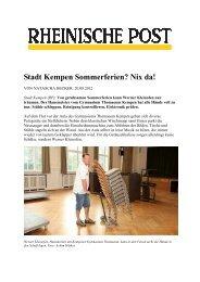 Stadt Kempen Sommerferien? Nix da! - Gymnasium Thomaeum ...