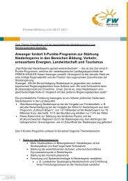 Pressemitteilung vom 06 - MdL Hubert Aiwanger