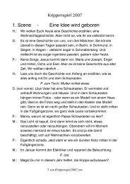 1. Szene - Eine Idee wird geboren - Ev. Kirchengemeinde Gleidorf