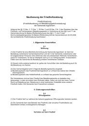 Friedhofsatzung als PDF - Gemeinde Ingersheim