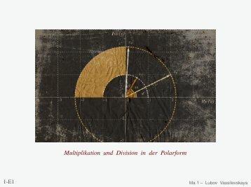 Multiplikation und Division in der Polarform