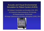 Acoustic and Visual Environmental Simulation for Robot ... - dasmod