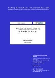 Preisdiskriminierung mittels Auktionen im Internet - Ludwig ...