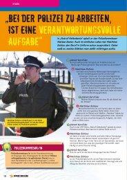 Bei der Polizei zu arbeiten ist eine ... - Planet Beruf.de