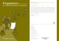 August-Ausgabe des KLAPPENTEXT lesen! (PDF) - literatur ...