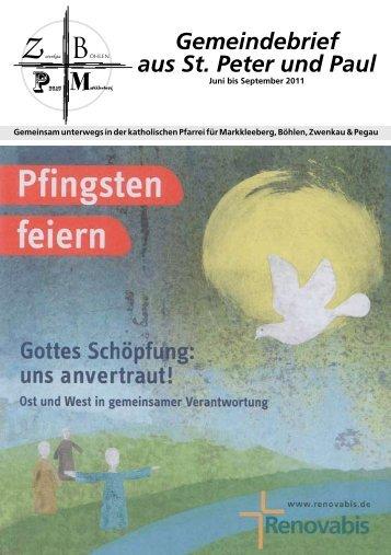 1. Ausgabe - Katholische Pfarrei St. Peter und Paul Markkleeberg