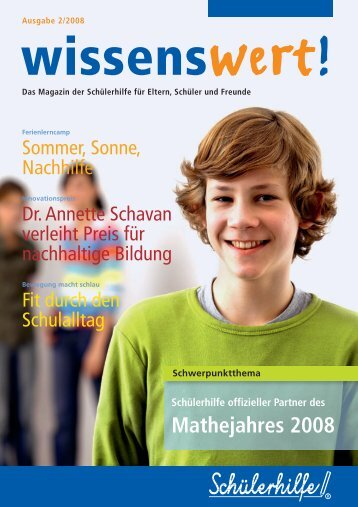 Mathejahres 2008 - Nachhilfe