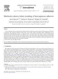 Multiscale cohesive failure modeling of heterogeneous adhesives