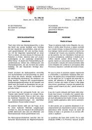 Zweisprachiger Text - Südtiroler Landtag