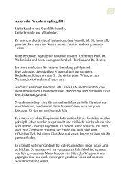 Ansprache Neujahrsempfang 2011 Liebe Kunden und ... - walter fries