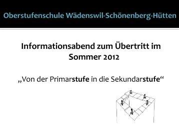 Informationsabend zum Übertritt im Sommer 2012