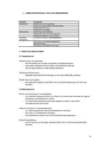 1-2 1. COMPETENTIEPROFIEL FACILITAIR MEDEWERKER 2 ...