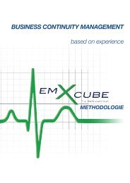 BUSINESS CONTINUITY MANAGEMENT based on experience