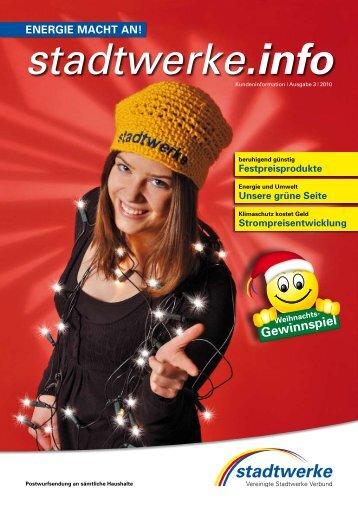 Gewinnspiel - Vereinigte Stadtwerke GmbH