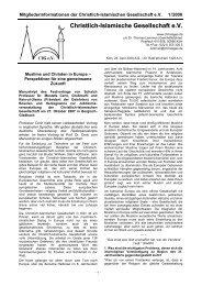 Christlich-Islamische Gesellschaft e.V.