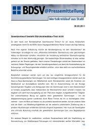 30.03.2011 Gesetzentwurf besteht Bürokratieabbau-Test nicht