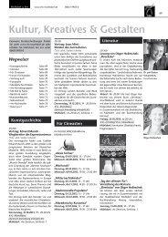Kultur, Kreatives & Gestalten - VHS Mühldorf