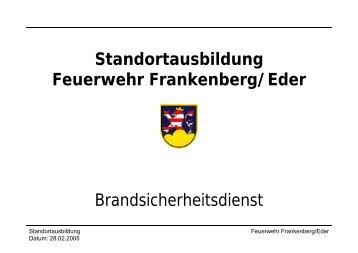 Brandsicherheitsdienst - Feuerwehr Frankenberg