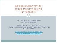"""""""Familie zwischen Wunsch und Wirklichkeit"""" - - des Psychologischen ..."""