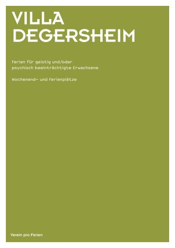 Broschüre - Villa Degersheim