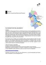 Projektinfo Kulturhauptstadtteil des Monats (PDF) - Linz09