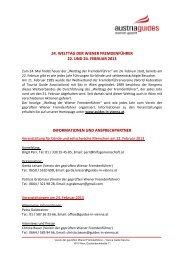 Bereits zum 20 - Verein der geprüften Wiener Fremdenführer