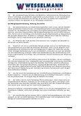 Allgemeine Geschäftsbedingungen (AGB) der Wesselmann ... - Seite 4