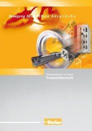 Produktübersicht Bewegung für höchste Ans p r ü c h e - Parker