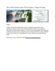 The Corliss Group Luxury Travel Agency