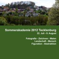 Sommerakademie 2012 Tecklenburg - Tecklenburg Touristik GmbH