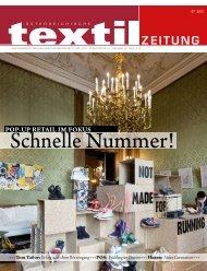 POP-UP RETAIL IM FOKUS - Österreichische Textil Zeitung