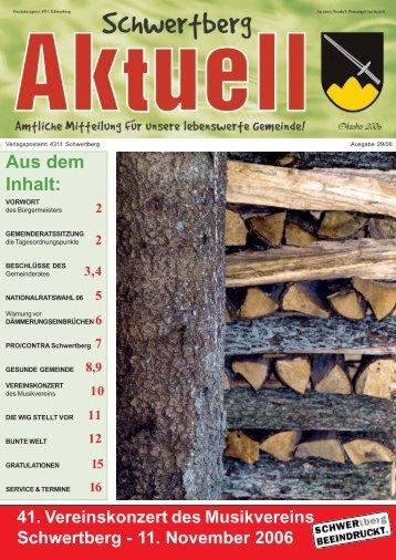 Gemeindezeitung Nr. 29 im Oktober 2006 - Schwertberg