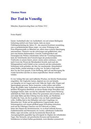 Thomas Mann: Der Tod in Venedig - Wissensnavigator