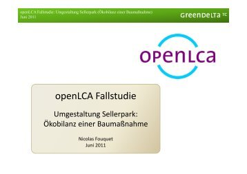 openLCA Fallstudie