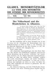 Der Völkerbund und die Minderheiten in Albanien. - Glasul ...
