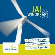 Investfolder Windkraft Simonsfeld AG