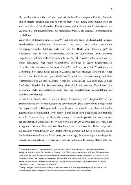Revisionismus und Verständigung Gustav Stresemann und die ...