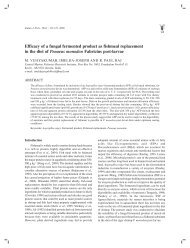 Efficacy of a fungal fermented product as fishmeal replacement in ...