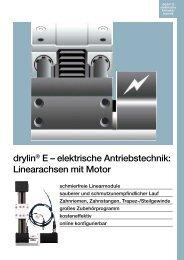 drylin® E – elektrische Antriebstechnik: Linearachsen mit Motor - Igus