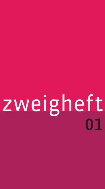 Zweigheft 1 - Stefan Zweig Centre Salzburg